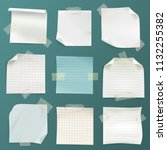 vector set of various crumpled... | Shutterstock .eps vector #1132255382