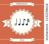 symbol of music  notes.... | Shutterstock .eps vector #1132258616