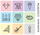 set of 9 simple editable icons...   Shutterstock .eps vector #1132258766