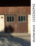 stable buildings bavaria style... | Shutterstock . vector #1132262942