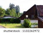 stable buildings bavaria style... | Shutterstock . vector #1132262972