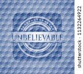 unbelievable blue emblem with... | Shutterstock .eps vector #1132264922