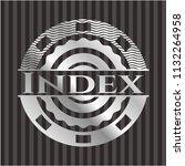 index silver badge or emblem | Shutterstock .eps vector #1132264958