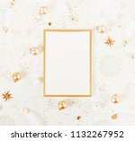 christmas background from gold... | Shutterstock . vector #1132267952