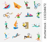 travel people icon vector... | Shutterstock .eps vector #1132268672