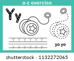 alphabet a z exercise with... | Shutterstock .eps vector #1132272065