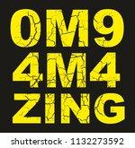 omg amazing graphic design...   Shutterstock .eps vector #1132273592