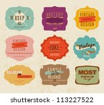 vector set vintage labels | Shutterstock .eps vector #113227522