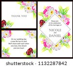 invitation with floral... | Shutterstock . vector #1132287842