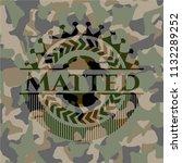 matted camouflaged emblem | Shutterstock .eps vector #1132289252