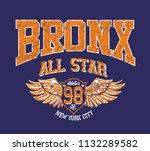 bronx graphic design vector art | Shutterstock .eps vector #1132289582