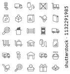 thin line vector icon set  ... | Shutterstock .eps vector #1132291985