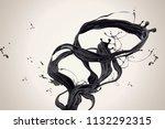 swirling dark ink in 3d... | Shutterstock .eps vector #1132292315