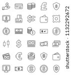 thin line vector icon set  ...   Shutterstock .eps vector #1132292672