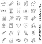 thin line vector icon set  ... | Shutterstock .eps vector #1132292762