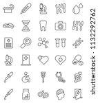 thin line vector icon set  ... | Shutterstock .eps vector #1132292762