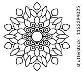 flower mandala vector... | Shutterstock .eps vector #1132294025