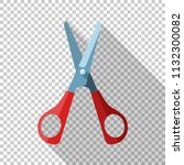 open scissors icon with red... | Shutterstock .eps vector #1132300082