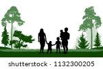 large family  man  woman and... | Shutterstock .eps vector #1132300205