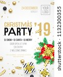 christmas party invitation... | Shutterstock .eps vector #1132300355
