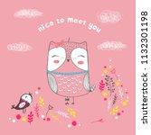 vector illustration of cute... | Shutterstock .eps vector #1132301198