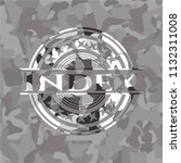 index on grey camo pattern | Shutterstock .eps vector #1132311008