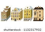 miniature houses in the style... | Shutterstock .eps vector #1132317932