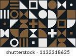 bauhaus art vector pattern... | Shutterstock .eps vector #1132318625