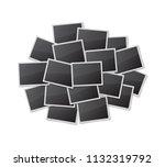 realistic blank photo frames...   Shutterstock .eps vector #1132319792