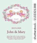 happy weddings. wedding card.... | Shutterstock .eps vector #1132321388