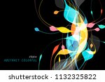 beautiful colors shaped concept ... | Shutterstock .eps vector #1132325822