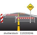 under construction of road 3d | Shutterstock .eps vector #113233246