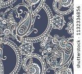seamless asian textile... | Shutterstock .eps vector #1132336856