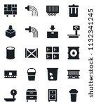 set of vector isolated black... | Shutterstock .eps vector #1132341245