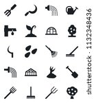 set of vector isolated black... | Shutterstock .eps vector #1132348436