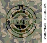 free admission on camo pattern | Shutterstock .eps vector #1132363526