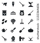 set of vector isolated black... | Shutterstock .eps vector #1132364606