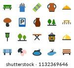 colored vector icon set  ... | Shutterstock .eps vector #1132369646