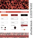 dark red vector ui ux kit with...