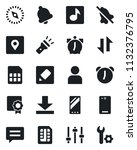 set of vector isolated black... | Shutterstock .eps vector #1132376795
