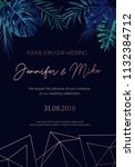 save our date wedding... | Shutterstock .eps vector #1132384712