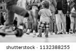 lost child. photo back view of... | Shutterstock . vector #1132388255