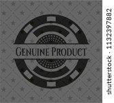 genuine product black emblem | Shutterstock .eps vector #1132397882