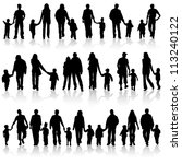 big collect silhouettes of... | Shutterstock . vector #113240122
