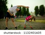 Athletic Young Father And...