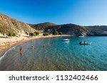 patmos  greece   august 16 ... | Shutterstock . vector #1132402466