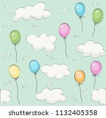 Cute Baby Cloud Pattern And...