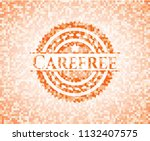 carefree abstract orange mosaic ... | Shutterstock .eps vector #1132407575