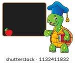 turtle teacher theme image 4  ... | Shutterstock .eps vector #1132411832