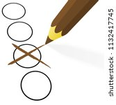 illustration of pencil colored... | Shutterstock .eps vector #1132417745